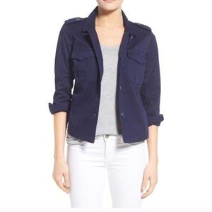 Vince Camuto Navy Cargo Utility Jacket New Fall